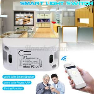 Smart WiFi Wireless Home Light Switch Timer APP Remote Control For Alexa Google