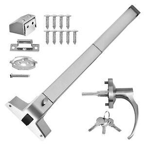 Door Push Bar 28-36 in Panic Exit Device Lock Emergency Hardware w/ Handle
