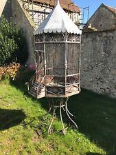 cage à oiseaux pigeonnier fer forgé hauteur 250cm