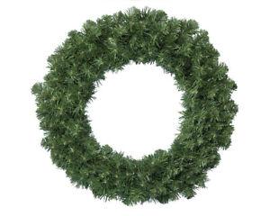 Künstlicher Tannenkranz 50cm Türkranz Weihnachtskranz Basteln Adventskranz grün