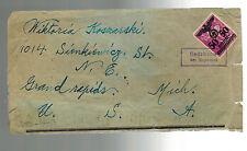 1941 GG Sedziszow Poland Censored Cover to Grand Rapids USA