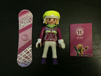 Playmobil Series 11 (9147): Snowboarder girl + snowboard + goggles + list, new
