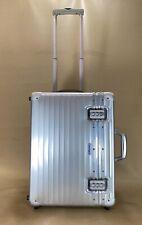 "RIMOWA PILOT Trolley 95051200 Luggage Bag Silver Aluminum 20"" Vertical Upright"