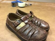 Birkenstock Footprints Mens Sz 8.5Fisherman Leather Closed Toe Sandals Clog Mule
