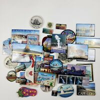 Vintage Lot of 39 Assorted US Cities & Places Refrigerator Magnets Souvenirs