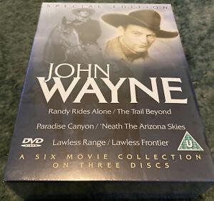JOHN WAYNE SIX MOVIE COLLECTION ( DVD 3-Disc Box Set) FREE POSTAGE