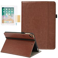 Slim Leather Smart Cover Case for Apple iPad 5th 6th Generation and iPad Air 1 2