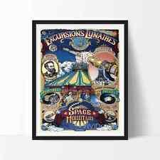 Vintage Disneyland PARIS SPACE MOUNTAIN Poster Reprint Not Framed 16x20