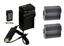 2 Batteries + Charger BP-DC5 BPDC5 For Leica V-LUX 1 VLUX 1 Digital Camera