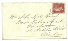 1858 RARE WHITEHOUSE ABERDEEN SCOTS LOCAL CANCEL TYPE VII RARITY E - 1d STAR ENV