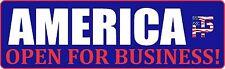 TRUMP AMERICA OPEN FOR BUSINESS DECAL WINDOW BUMPER STICKER POLITICAL