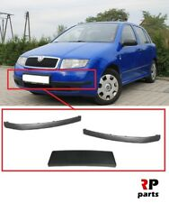 FOR SKODA FABIA 99-04 NEW FRONT BUMPER MOLDING TRIM PAIR SET WITH BUMPER HOLDER