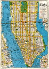 New York City Map  Poster Cavallini & Co 20 x 28 Wrap
