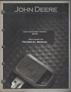 JOHN DEERE GX355  LAWN & GARDEN TRACTORS TM 1974 TECHNICAL SERVICE MANUAL (472)