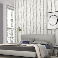 White and Grey Birch Tree Wallpaper on Paste the Wall Textured Vinyl 6305-10