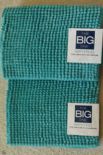 "NWT KOHL'S Lot Set of Two THE BIG One  LIGHT TEAL BUBBLE BATH RUGS Mat 17"" X 24"""