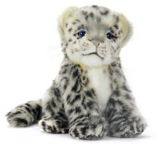Snow Leopard collectable plush realistic soft toy by Hansa - 18cm - 6356