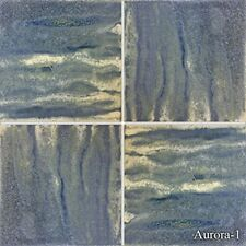 Fujiwa Porcelain glazed Swimming Pool Waterline Tile AURORA1BREEZE BLUE 6x6 2 SQ