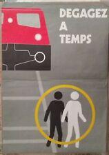 affiche sécurité SNCF 45 - le train arrive, DEGAGEZ à TEMPS