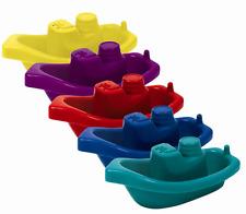 5 X Bebé Niños Niños tiempo Tina de baño flotante divertido jugar Barcos De Plástico Juguetes Conjunto