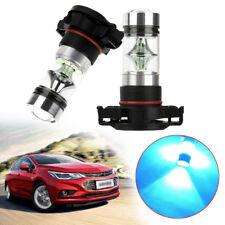 2x 100W H16 2504 5201 5202 8000K Ice Blue LED Fog Lights Driving Bulbs