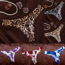 New Women Leopard Floral Lace Seamless G-string Briefs Thongs Knickers Underwear