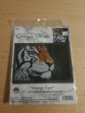"Design Works Counted Cross Stitch Kit - Orange Tiger 12"" x 18"""
