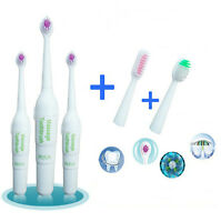 Kids&Adult Electric Toothbrush Replacement 3 Brush Heads AA Battery Operated HF