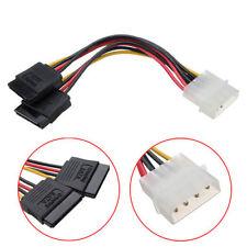 2 X 15CM 4 Pin IDE Molex vers 2 Série ATA SATA HDD Alimentation Adaptateur Câble