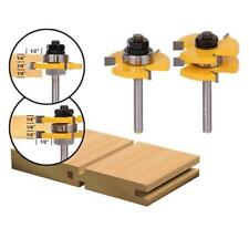 Shank Tongue Groove Joint Assembly Router Bit Set Wood Cutting Supplies Set AL