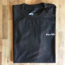 Chocolate Skateboards Embroidered Logo Black T-Shirt S Supreme Keenan Chico Gino