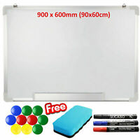 900 x 600mm Magnetic Dry Wipe Whiteboard Home School Office Drawing Notice Board