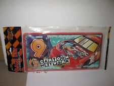 Cartoon network 9 Race Day Metal License Plate 1997