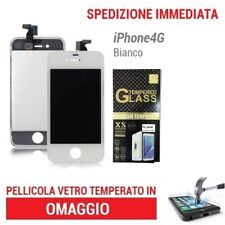 TOUCH SCREEN  LCD RETINA  FRAME VETRO DISPLAY SCHERMO PER IPHONE 4S BIANCO