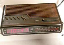Vintage GE Digital Alarm Clock Radio - Woodgrain Model 7-4612B ~ TESTED