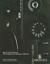 CHRISTIE'S CAMERAS LEICA European Collection Part 2 Auction Catalog 1996