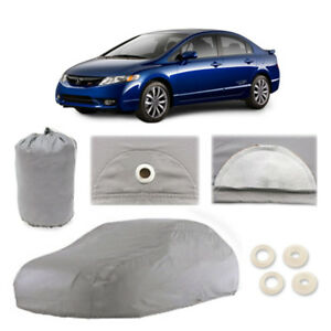 Fits Honda Civic 4 Layer Car Cover Fitted In Out door Water Proof Rain Snow Dust