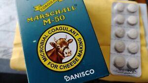 Lot of 10 ~ Danisco Marschall M-50 Pastillas de Cuajo