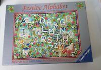 FESTIVE ALPHABET 1000 piece jigsaw puzzle RAVENSBURGER Limited Edition CHRISTMAS
