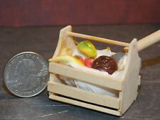 Dollhouse Miniature Fruit Basket Food A  1:12 one Inch scale A29 Dollys Gallery