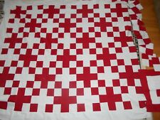 HANDMADE QUILT 66 X 61 HAND MADE SMOKE FREE NO STAINS OR TEARS ALL U SEE NO BACK