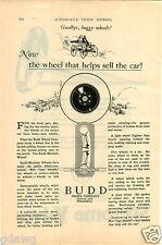 1925 PAPER AD Budd Car Auto Automobile Wheel Co Company Lighter Than Wood