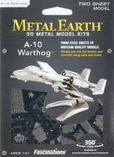 Fascinations Metal Earth 3D Model Kit A-10 Warthog US Air Force Jet Fighter