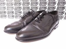 STANLEY BLACKER Black Patent Oxford Lace Shoes Handmade in Italy 11 M