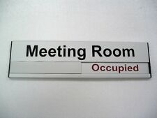 Meeting Room sign/Vacant Occupied/Aluminium door sign