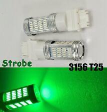 Strobe Reverse Backup Light 92 LED Bulb Green T25 3156 3456 B1 #1 For Buick Mazd
