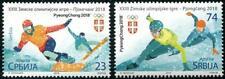 Winter Olympics PyeongChang 2018 set of 2 mnh stamps Serbia Skating Snowboarding