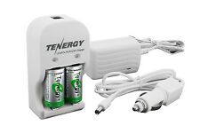 Kit: 2pcs Tenergy RCR123A 3.0V/3.2V Rechargeable LiFe Batteries + Smart Charger