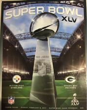 SUPER BOWL 45 NATIONAL PROGRAM XLV PITTSBURGH STEELERS GREEN BAY PACKERS RODGERS