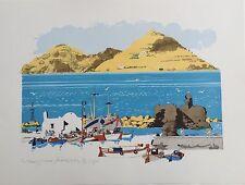 "PAUL HOGARTH OBE RA (1917-2001) ""Naousz Harbour, Paros"" Limited Ed Lithograph"